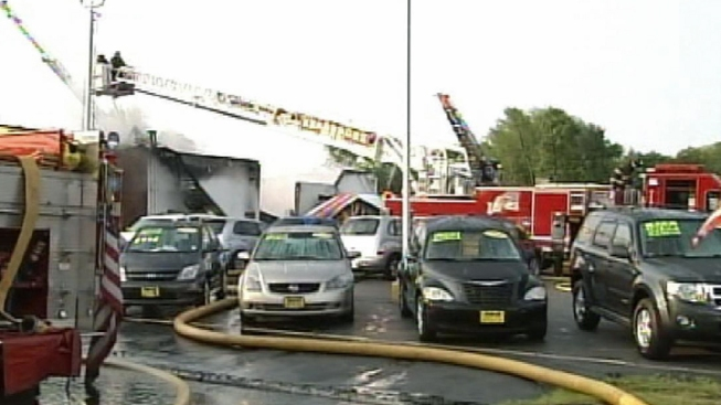 Massive Fire Destroys Central NJ Car Dealership