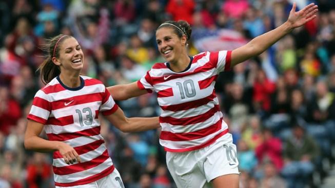 NJ's Carli Lloyd Scores Again in Soccer Win Over Colombia