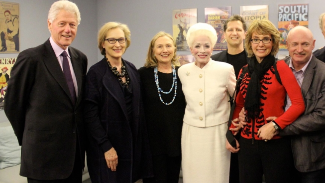"Clintons, Gabby Giffords Drop in on Holland Taylor and ""Ann"""