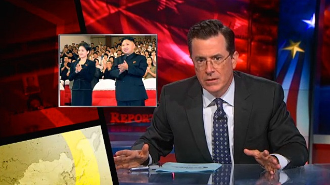 "Colbert Mocks North Korea's ""Celebrity Couple Technology"""