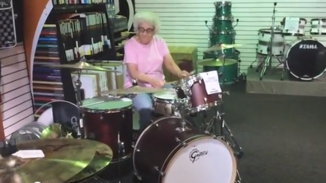 "Drumming ""Grandma"" a Hit With 2 Million YouTube Views"
