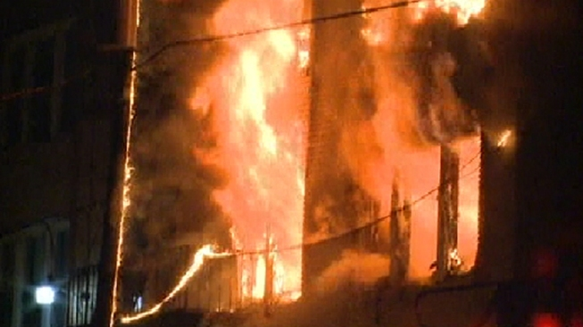 Firefighters Save Residents Trapped in Elizabeth Blaze