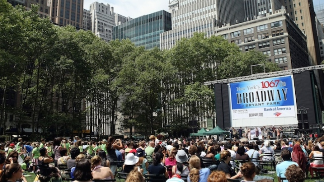 "Free ""Broadway in Bryant Park"" Schedule Set"