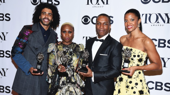 At Tonys, Performers of Color Win All Musical Acting Categories