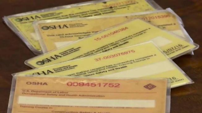 i-team: black market sales of fake safety training cards for nyc ...