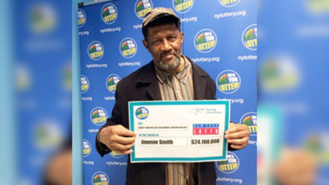 Retired Security Officer Claims $24.1 Million New York Lotto Jackpot
