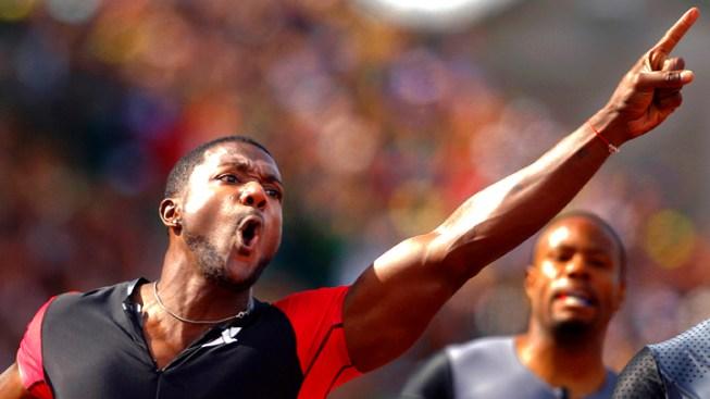 Gatlin Beats Gay and Wins 100 at Olympic Trials