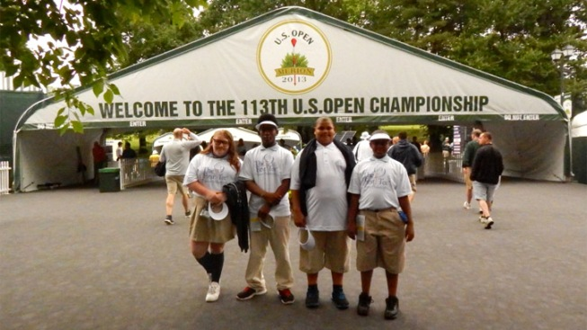 Young Golfers See Idols in Action at U.S. Open