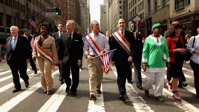 NYC Labor Parade Mixed with 9/11 Reflection