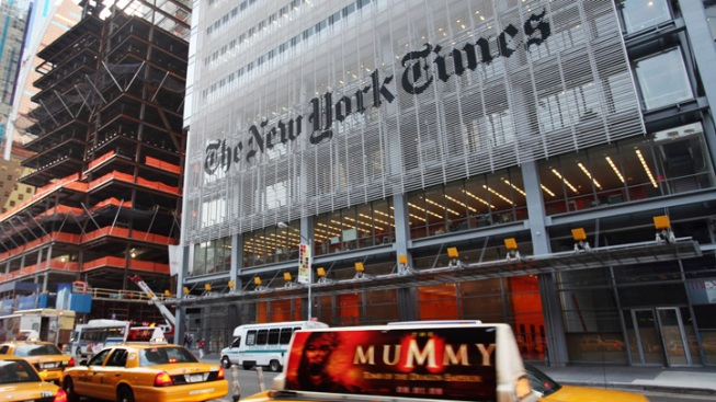 Man Climbs NYT Tower, Says He Wanted Paper