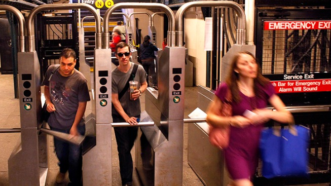 The Busiest Subway Turnstile in NYC