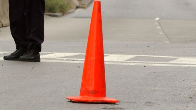 White Plains Wheel Thief Uses Traffic Cones to Hold Up Car