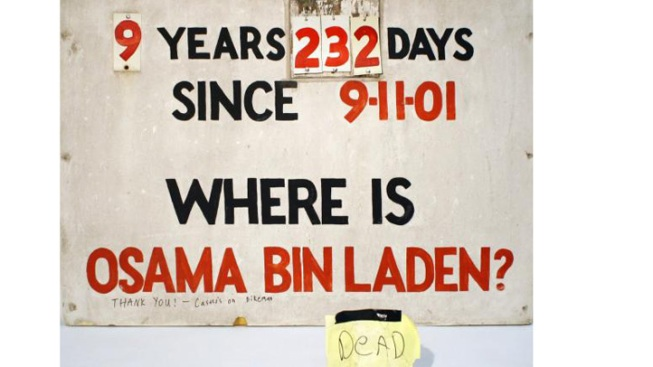 Bin Laden Sign Set for Display in the 9/11 Museum