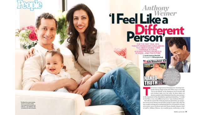 Anthony Weiner Mum on Return to Politics in First Interview With People Magazine