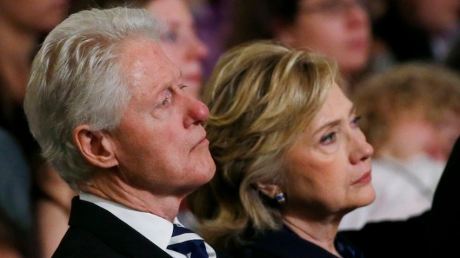 """Former President Clinton and Family Visit Sting's """"The Last Ship"""""""