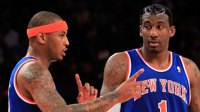 Amar'e, 'Melo Want to Find Missing Pieces