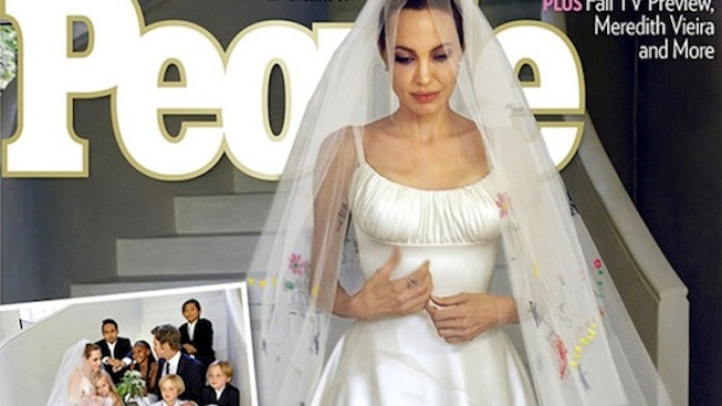 Angelina Jolie and Brad Pitt's First Wedding Photos Revealed