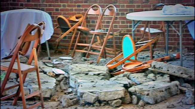 ceiling collapse narrowly misses baby shower in asbury park nbc