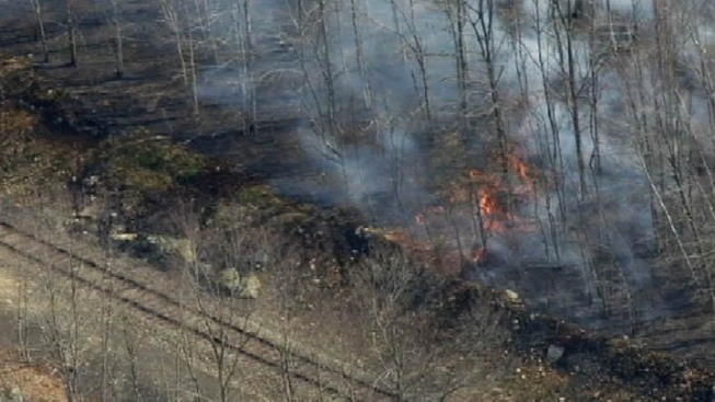 Brush Fires Burn in NJ, Trains Affected