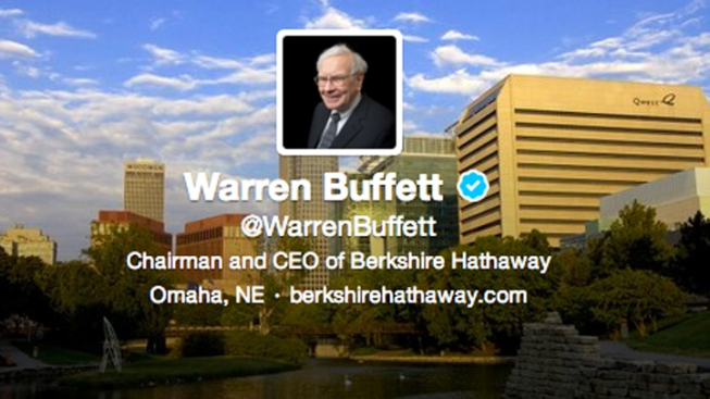 "Warren Buffett's New Twitter Account Is ""in the House"""