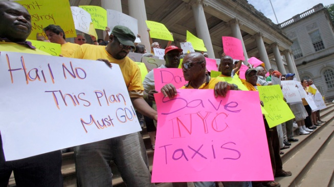 Cabbies Protest Livery Proposal