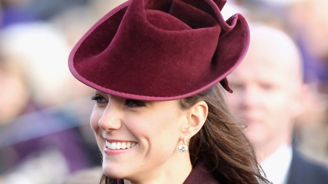One Shot: Duchess Kate Wears Statement Hat for the Holidays