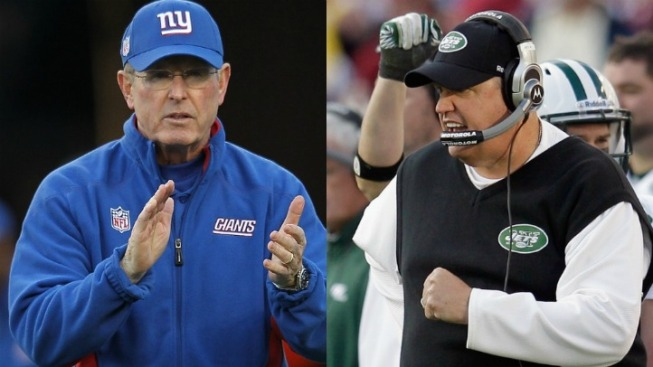 Tom Coughlin and Rex Ryan Breathing Similar Air These Days