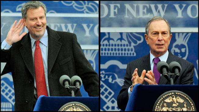 NYC Mayor-Elect 10 Inches Taller Than Bloomberg