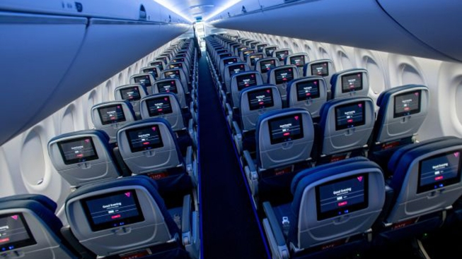 Window in the Bathroom and More Bin Space: Delta's Brand-New A220 Planes Finally Take Off