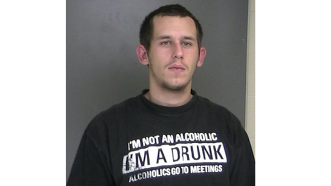 "Man Wearing ""I'm A Drunk"" T-Shirt Hits Cop Car, Arrested for DWI"