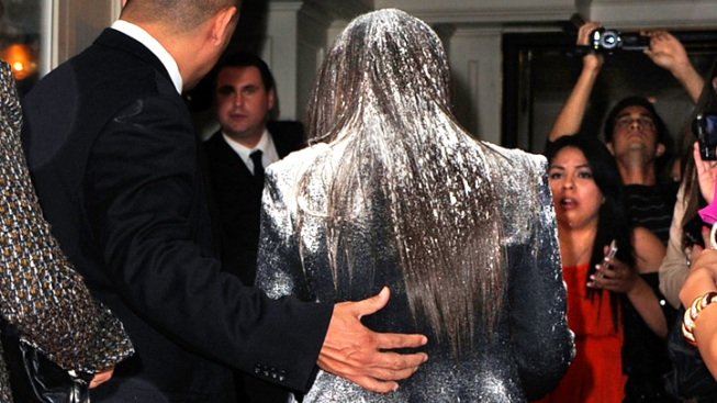 Kim Kardashian Flour-Bombed on Red Carpet