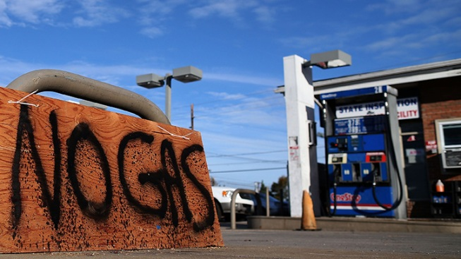 Amid Gas Shortage, Pleas for Help from Sandy Victims, Temporary Fuel Trucks Deployed to NYC and LI