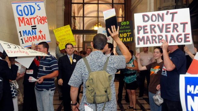 Gay Marriage Opponents File Suit to Overturn Law