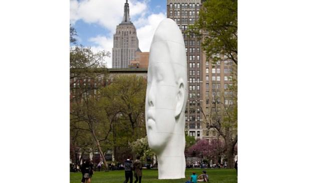 Giant Head Sculpture Lands at Madison Square Park