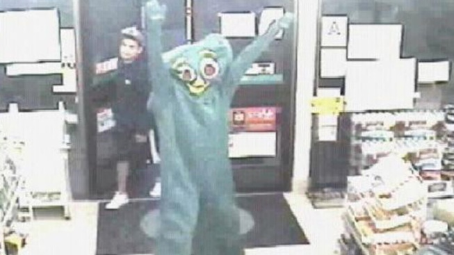 """Gumby"" Robber Gets Laughed At"