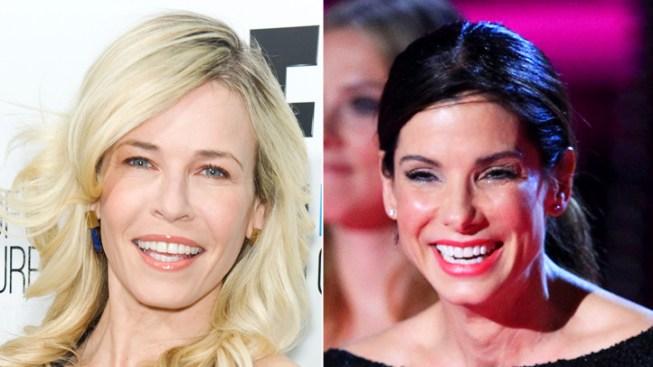 """Sandra Bullock, Chelsea Handler Give Eyeful on """"Lately"""" Opener"""