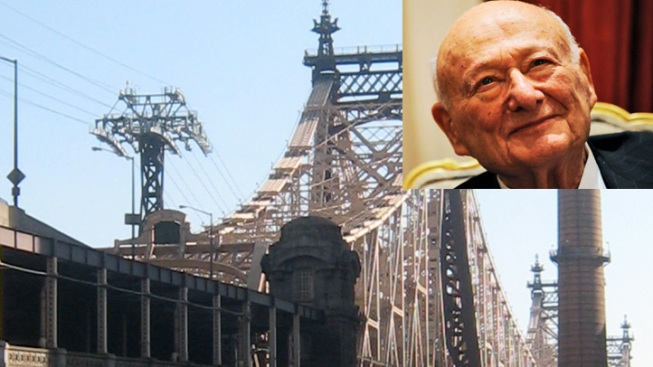 Ed Koch, New York's Old Faithful, Gets a Bridge