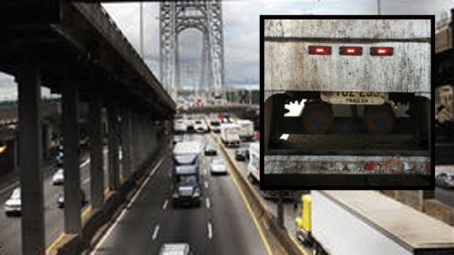 Police: Truck Driver With $28,000 in Unpaid Tolls Hid Plates, Arrested on GWB