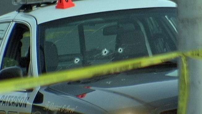 NJ Police Car Riddled With Bullets; No Injuries