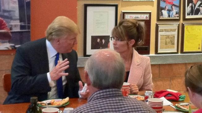 Palin Eats Pizza With Trump, Plans to Visit Ellis Island, Lady Liberty