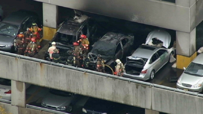 Authorities Investigate Burned Cars in New Jersey Parking Garage