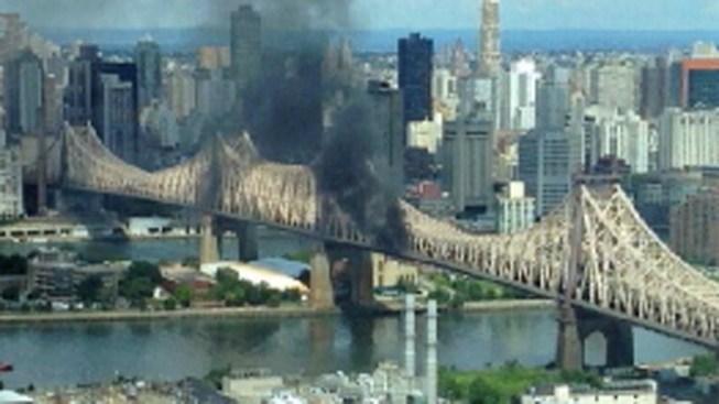 Smoky Truck Fire Shuts Down Parts of Queensboro Bridge, Causes Major Delays