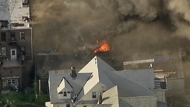 Firefighters Battle 4-Alarm Blaze in Queens