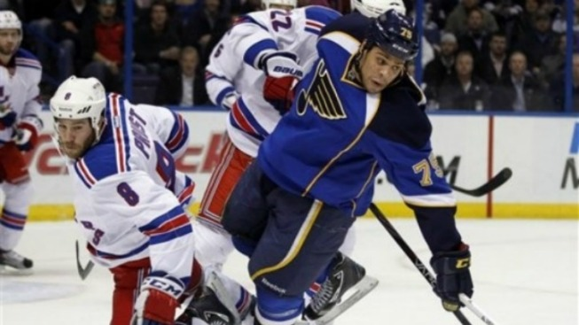 Rangers Get Pushed Around in St. Louis