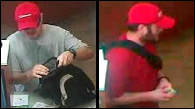 Police Hunt Bank Robber Who Wears Red Hat