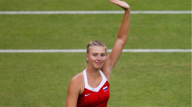 Sharapova Wins Olympic Debut Indoors