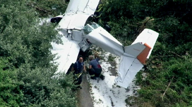 Small Plane Crashes at New Jersey Airport