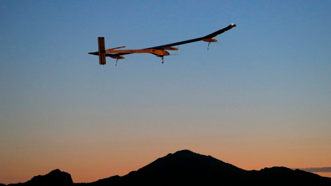 Solar Powered Plane on Final Leg of Flight to New York City