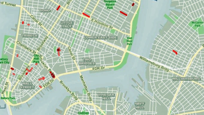 Interactive Map Of New York City.Interactive Map Shows Nyc Street Closures Nbc New York