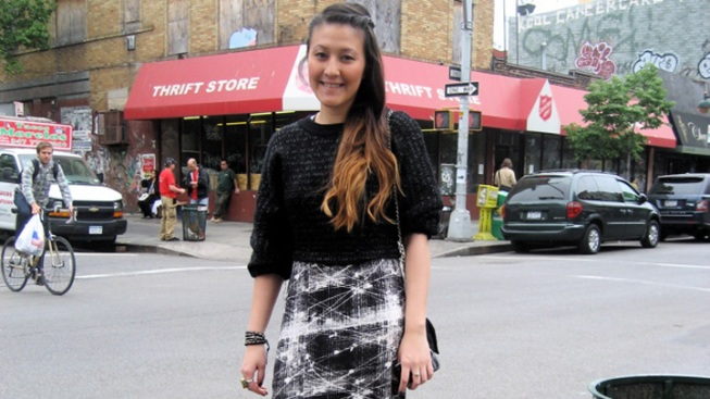 Street Style: Marisa L.'s Mixed-Up Patterns and Textures